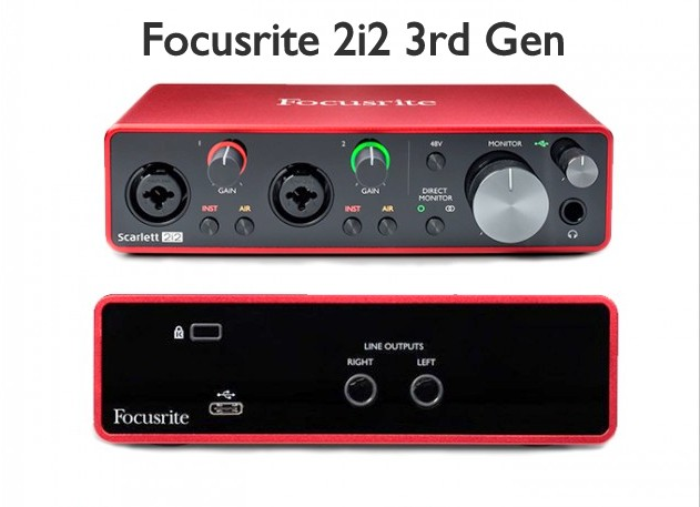 Focusrite 2i2 3rd gen Scarlett Soundcard