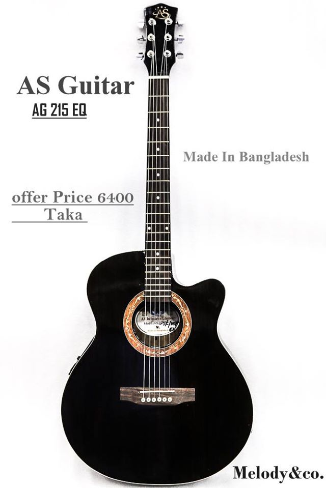 AS   AS -215EQ BK/RED/BLUE  acoustic Guitar