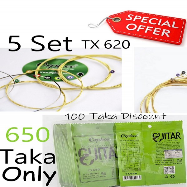 Orphee Tx 620 5 Set Acoustic Strings