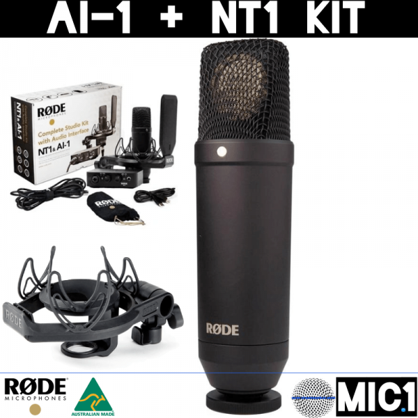 Rode Complete Studio Kit with NT1 Microphone and AI-1 Sound Card