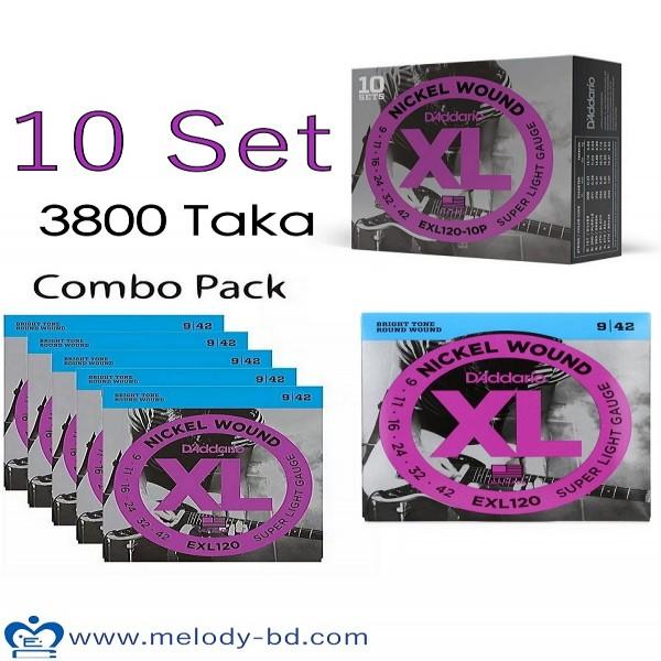 Daddario EXL 120 10 Set Combo Electric Strings