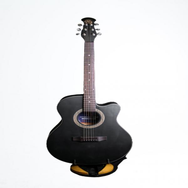 As signature Black Guitar