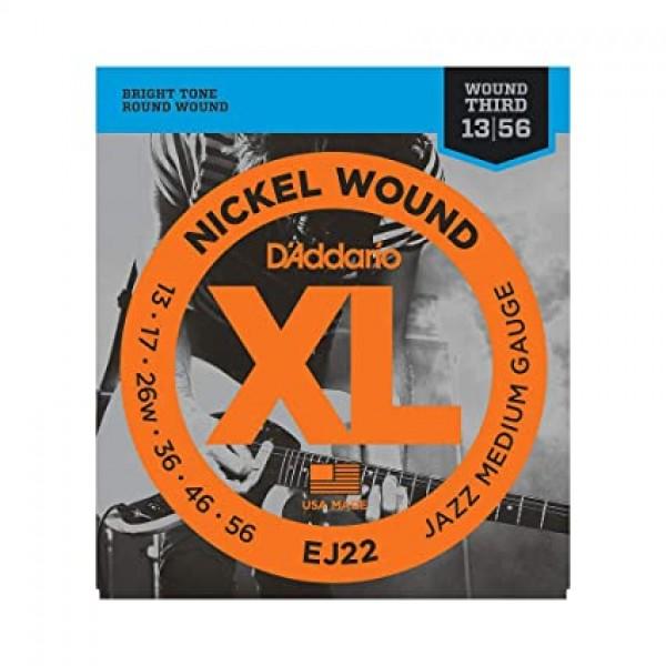 D'Addario EJ22 - Nickel Wound Electric Strings - .013-.056 Jazz Medium Wound