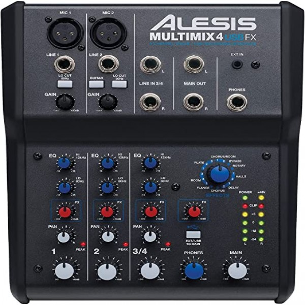 Alesis Multimix 4 USB FX Mixer with USB & Effects